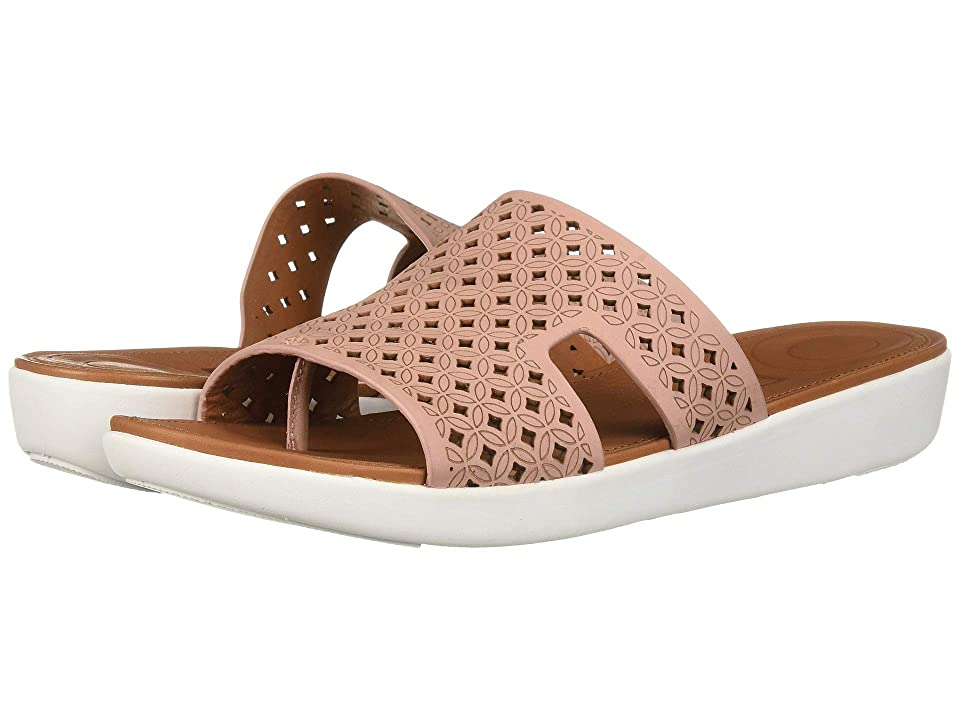 FitFlop H-Bar Slide Sandals Latticed Leather (Dusky Pink) Women