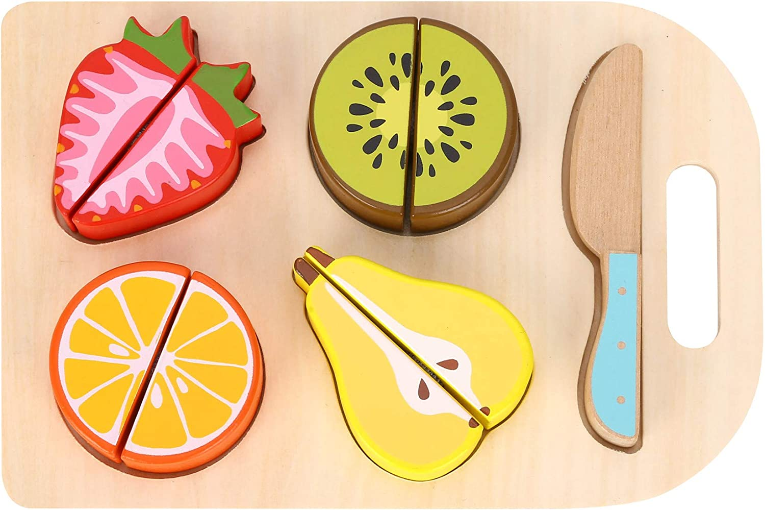 Learning Curve Amazon Exclusive Fruit Salad Prep Board Playset for Kids, Fruit Salad Puzzle