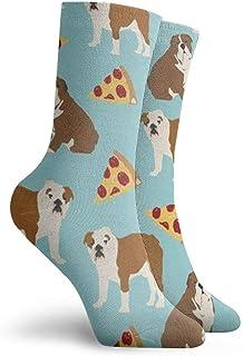 Calcetines de cachorro de bulldog inglés, para mujer y hombre, divertidos, unisex, multicolor, de algodón