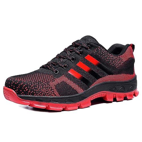 134ada5a9d554e CHNHIRA Chaussures de Travail Homme Embout Acier Protection Antidérapante  Anti-Perforation Chaussures de Sécurité Unisexes