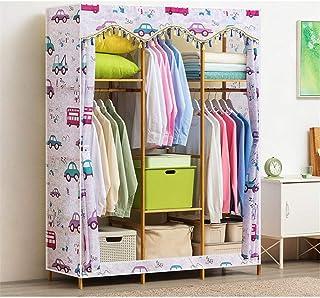 Penderies repliables Pose libre Placard en bois vêtements Rack150x43x164cm vêtements lourds vêtements Armoire rack Placard...