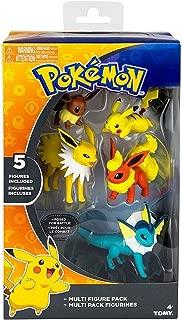Pokemon Pikachu Eevee Vaporeon Jolteon Flareon Action Figure Toy Pack