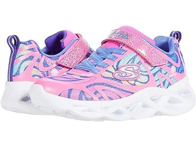 SKECHERS KIDS Sport Lighted Twisty Brights Dazzle Flash 302305L (Little Kid/Big Kid) (Pink/Multi) Girl