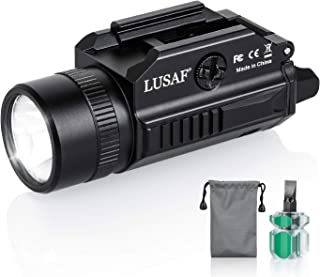 LUSAF 1200 Lumens Gun Light for Pistol Rail Mounted Compact LED Gun Tactical Flashlight for Picatinny MIL-STD-1913 and Glo...