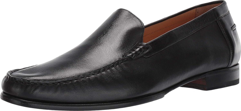 Mezlan Napoles - Mens Venetian Style Moccasin - Supple Nappa Leather - European Calfskin Loafer - Handcrafted in Spain - Medium Width (10, Black)