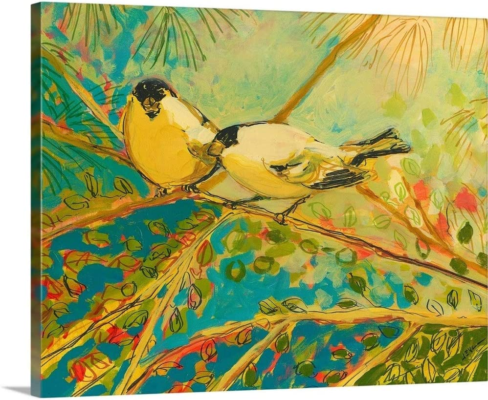 Two Goldfinch Found Canvas Wall Artwork Art Print Clearance SALE! Limited time! Bird Low price