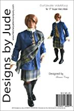 Designs by Jude Outlander Wedding Jamie Doll Clothes Sewing Pattern for 17