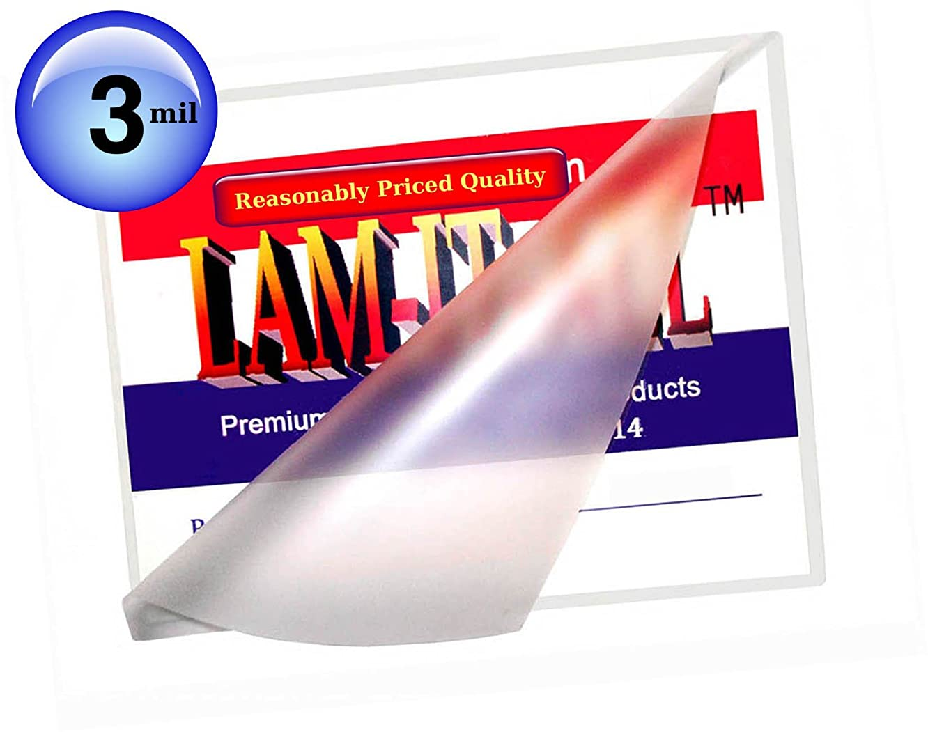 Hot 3 Mil Letter Laminating Pouches 9 x 11-1/2 [Pack of 100] by LAM-IT-ALL