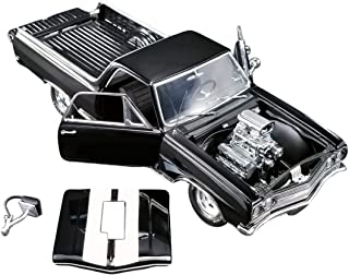 1965 Chevrolet El Camino Drag Outlaw Black with White Stripes Limited Edition to 564 Pieces Worldwide 1/18 Diecast Model Car by Acme A1805409
