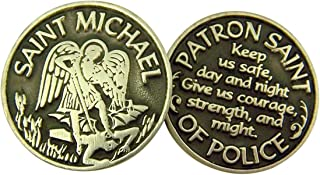 Religious Gifts Silver and Black Tone Devotional Prayer Token, 1 1/8 Inch