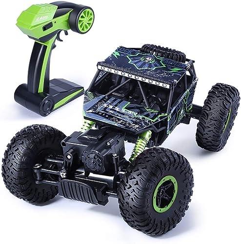 Ycco Coche RC de alta velocidad 1 12 4WD Rock Crawlers 4x4 Conducción Motores dobles Manejo Pie grande Control remoto Modelo Vehículo todoterreno Juguete educativo para Niños al aire libre Regaños par