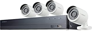 Wisenet SDH-B74043BF 8-Channel 1080p Full HD DVR Security System with 1TB Hard Drive, and 4 Weather-Resistant Cameras