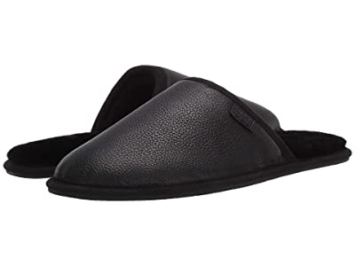 BOSS Hugo Boss Home Leather Slipper by BOSS (Black) Men