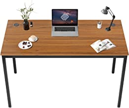 EUREKA ERGONOMIC 47 inch Simple Computer Desk Home Office Writing Table for Workstation W Cable Grommet, Teak