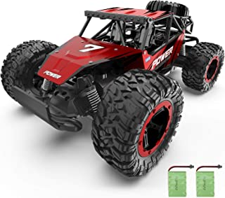 XIXOV Remote Control Car, 1:14 Aluminium Alloy Off Road Large Size Kids High Speed Fast Racing Monster Vehicle Hobby Truck Electric Hobby Toy with Two Rechargeable Batteries for Boys Teens Adults