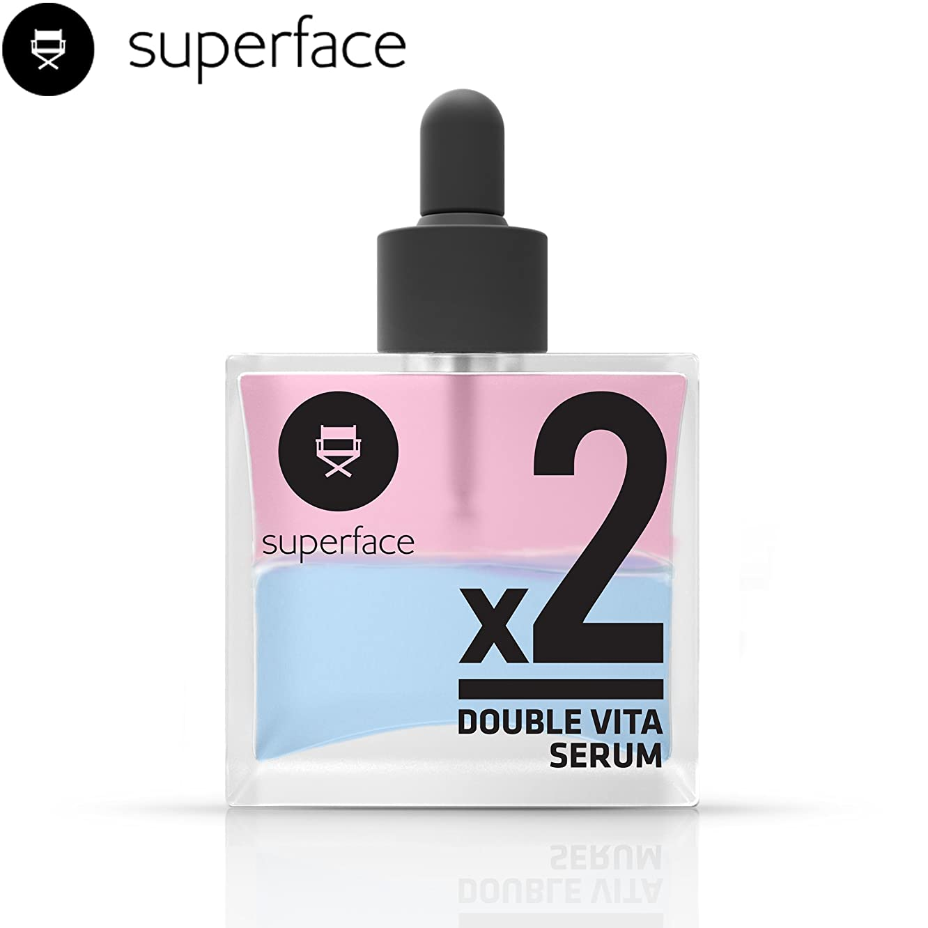 Double Vita Serum [superface] Deep Hydration Gel Type Vitamin C & E Blending Oil Serum for Skin Firmness and Radiance No Sticky Oily Finish - 50ml/1.69 fl.oz