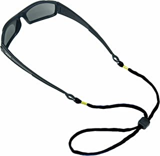 Chums Safety 12220 Cotton Eyewear Retainer with Center Punched Breakaway, Black (Pack of 6)