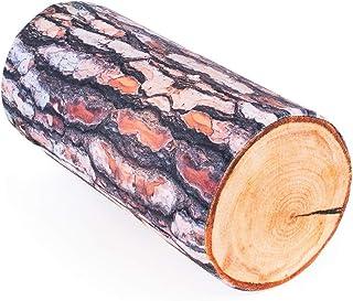 Fancy Coussin décoratif en forme de tronc d'arbre (pin)- 40 cm - coussin canapé - Mini traversin - déco salon bois - Jouet...