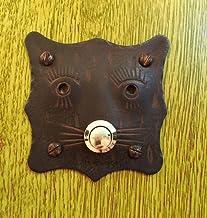 Antieke as - individuele deurbel kat - antiek-rusted bel huisdeur klem deurklem