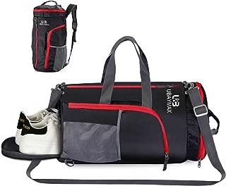 UBaymax 32L Bolsas de Deporte con Compartimento de Zapatos,Bolsas de Gimnasia Impermeable,Bolso de Viaje Fin de Semana,Travel Duffle Bag para Hombre/Mujer,Bolso Bandolera para Natación/Surf/Viajar
