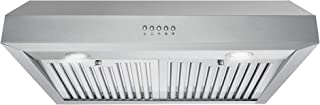 Cosmo UC30 30 in. Under Cabinet Range Hood Ductless Convertible Duct, Kitchen Over Stove Vent, 3-Speed Fan, Permanent Filters, LED Lights in Stainless Steel