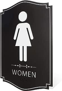 Women's Restroom Sign Black/White (9