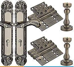 GangKun Driedelig binnendeurslot, stil kamerdeurslot, gedeeld deurslot, dubbel deurslot, luxe houten deurslot.