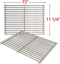 SHINESTAR 7521 Cooking Grates for Weber Spirit E210, Genesis Silver A, Spirit 500, 15 inch Stainless Steel Grill Grates for Weber Old Spirit 200 Series Grill, Set of 2