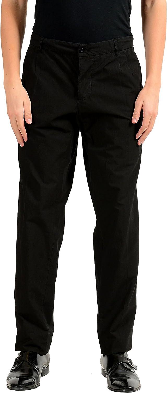 Dolce Gabbana Men's Black Superlatite Regular discount Casual 28 US Pants IT 44