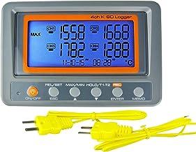 4 canales K Temperatura Tipo de tarjeta SD termómetro registrador de datos termopar con zumbador