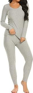 Ekouaer Thermal Underwear Long Fleece Lined Winter Base Layering Set for Women