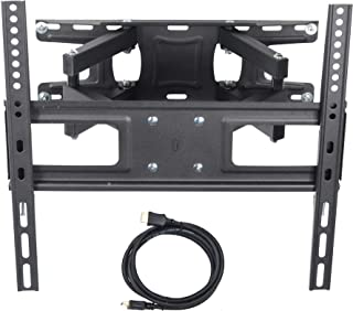 VideoSecu MW340B2 TV Wall Mount Bracket for most 32,65 Inch LED, LCD, OLED and Plasma Flat Screen TV, with Full Motion Tilt Swivel Articulating Dual Arms 14in Extend, up to VESA 400x400mm (Renewed)