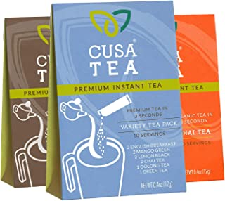 Cusa Tea Variety Packs and Bundles: Premium Instant Tea - No Sugar or Artificial Ingredients - Ready in Seconds - Iced or ...