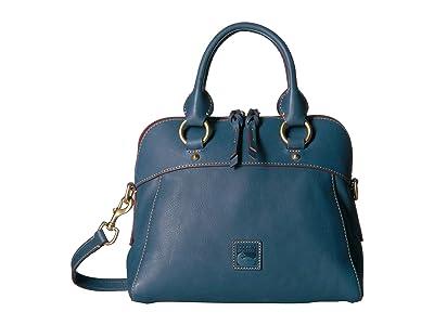 Dooney & Bourke Florentine Cameron Satchel (Denim/Self Trim) Satchel Handbags