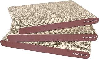 AMZNOVA Cat Scratcher Cardboard Scratching Pads Scratch Lounge Sofa Bed, Wood Floor Print
