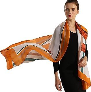 NOVMAY Womem's Silk Like Scarf Long Lightweight Sunscreen Shawls Wrap for Women Hair Scarves 70 X 27 Inches