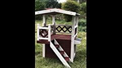 Amazon.com : Small Mahogany TownHaus Hideaway Dog House