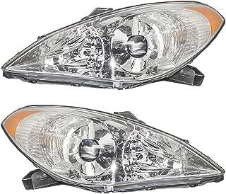 HEADLIGHTSDEPOT Compatible with Toyota Solara Halogen Headlights Driver Passenger Left Right Set