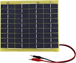 ECO-WORTHY 5W 12V Waterproof Epoxy Solar Panel Module Battery Trickle Charger with Battery Clips Diode for Car Boats Camping