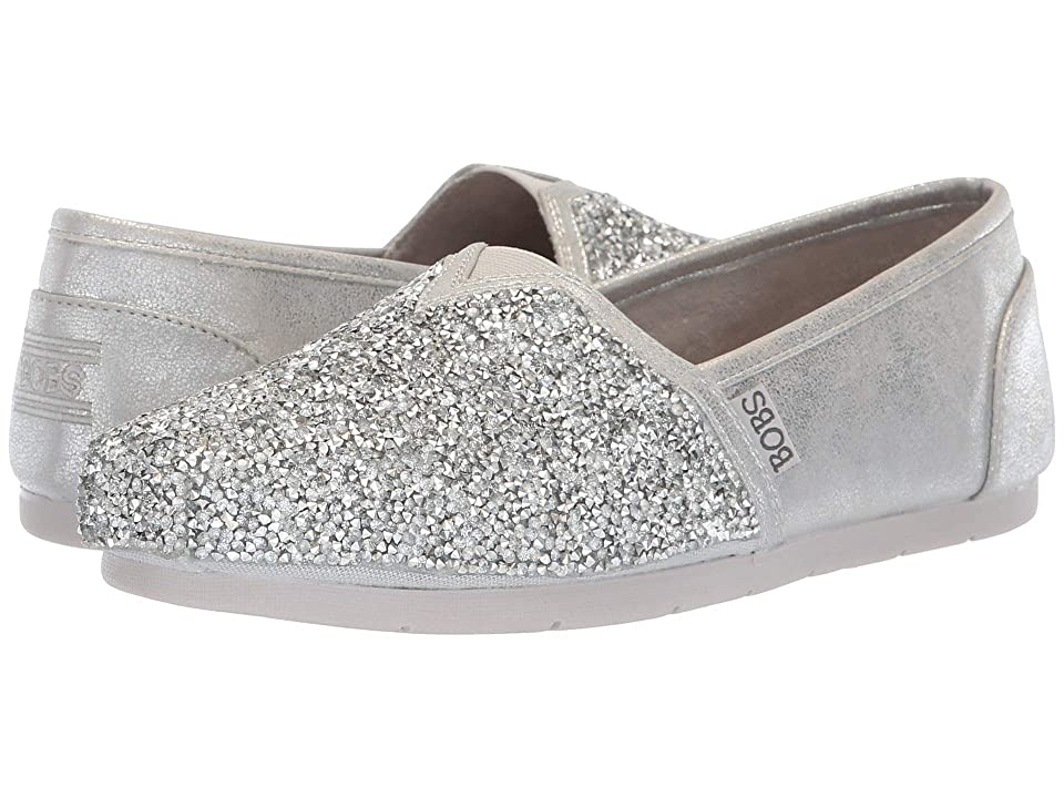 BOBS from SKECHERS Luxe Bobs (Silver) Women