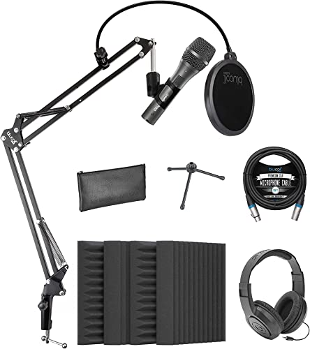 popular Audio-Technica AT2005USB Cardioid Dynamic USB/XLR Microphone for PA Systems, Windows & Mac Bundle with Blucoil 4X Acoustic Wedges, 10' XLR Cable, Boom Arm Plus new arrival Pop outlet sale Filter, and Samson SR350 Headphones online