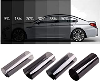 0.5mx3m Dark Black Car Window Tint Film Roll Glass Cars Auto Solar Protection Summer for Car Side Window Home Glass with Scraper,Black 50 Percent