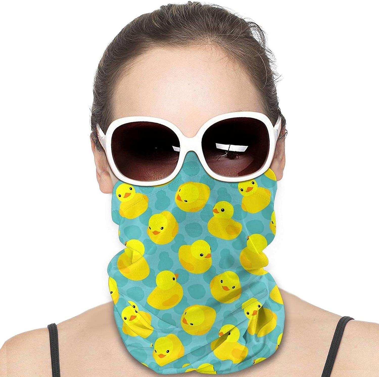 Yellow Rubber Ducks Neck Gaiter Windproof Face Cover Balaclava Outdoors Magic Scarf Headband for Men Women Motorcycling Fishing Running Climbing