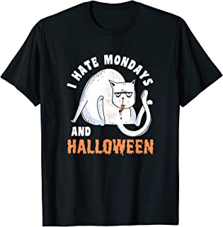 I Hate Mondays & Halloween Funny Cat Costume Men Women Gifts T-Shirt