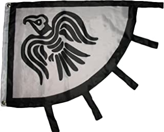 Viking Raven Black and White 3x4 Flag Banner