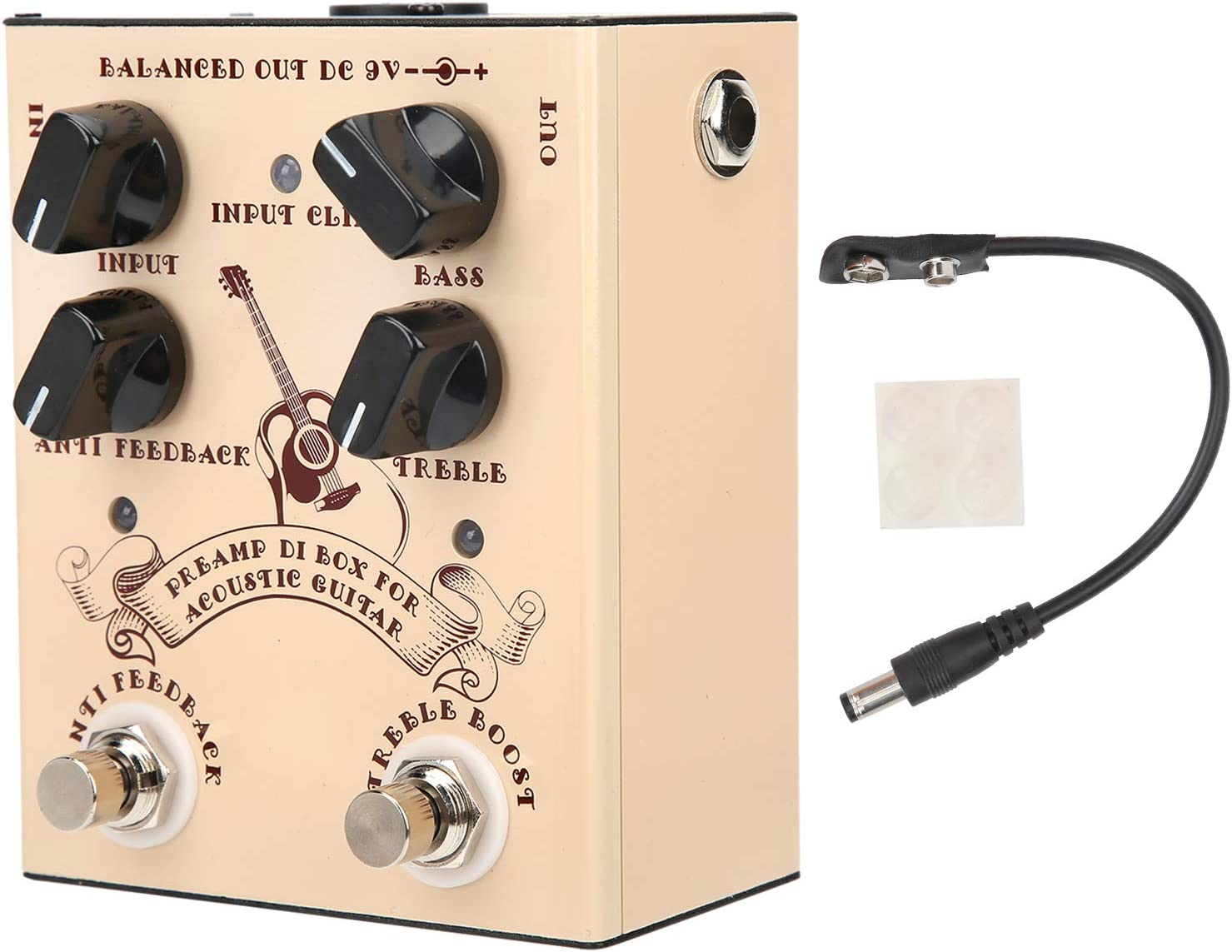 Pedal de efecto de guitarra acústica, caja DI de guitarra para usar este D.I. Marquesina para guitarra y bajo para todos los instrumentos