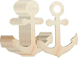 Wooden Anchor 12 pack MDF craft design shape embellishment Sea Anchor shape
