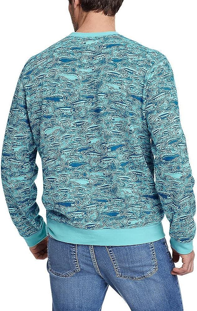 Eddie Bauer Men's Camp Fleece Crew Sweatshirt - Print