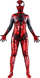 Heroscostume Spandex Lycra Red Halloween Cosplay Costume Fullbody Zentai Bodysuit for Female and Kids