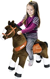 PonyCycle Pony Cycle Riding Horse Chocolate Brown with White Hoof- Med. Riding Horse